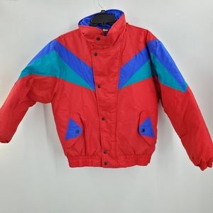 Vtg Apparatus Puffer Coat Colorblock 90s Ski Coat